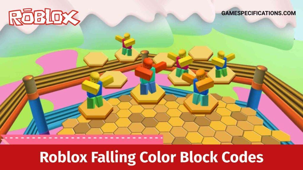 Roblox Falling Color Block Codes