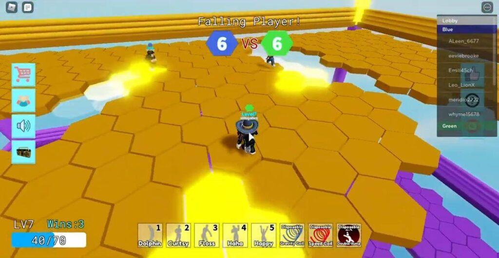 Roblox Falling Color Block Gameplay