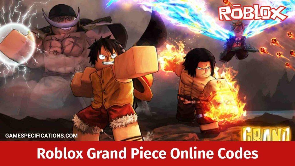 Roblox Grand Piece Online Codes