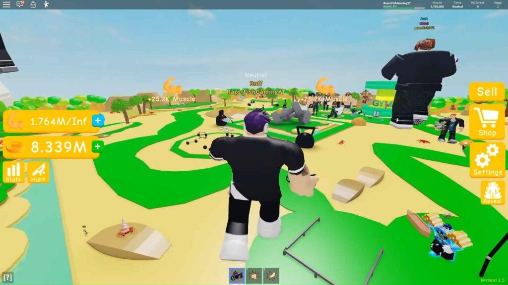 Roblox Lifting Simulator Gameplay