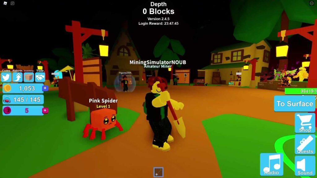 Roblox Mining Simulator Gameplay