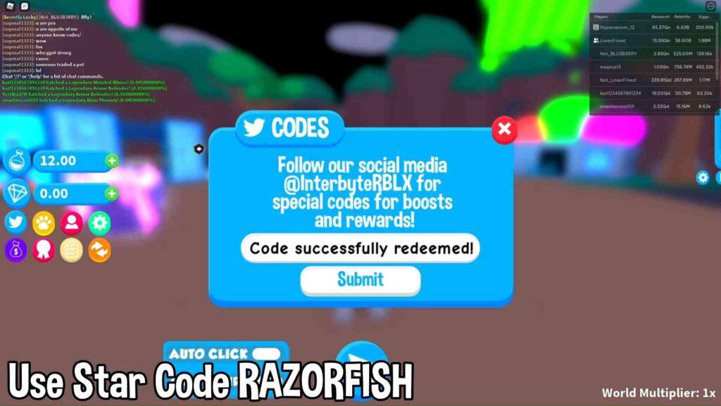 Roblox Science Simulator Codes List