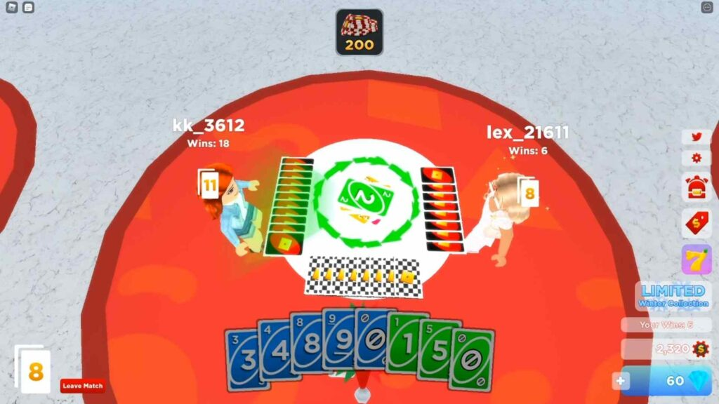 Roblox Uno Gameplay