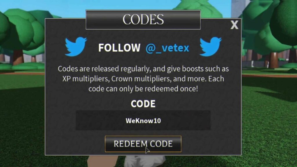 Roblox World of Magic Codes List