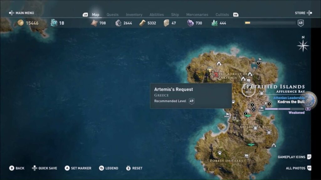 Assassin's Creed Odyssey Daughters of Location