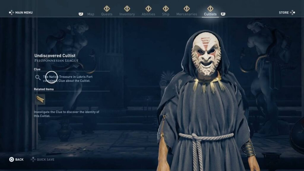 Assassin's Creed Odyssey Lokris Fort Cultist Clue