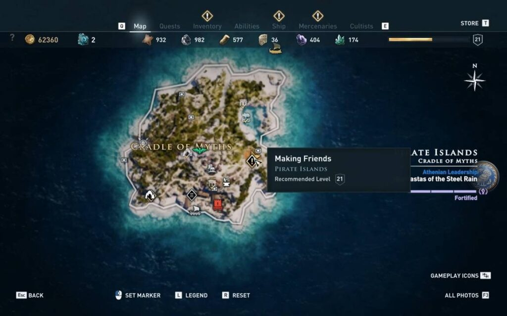 Assassin's Creed Odyssey Making Friends Location