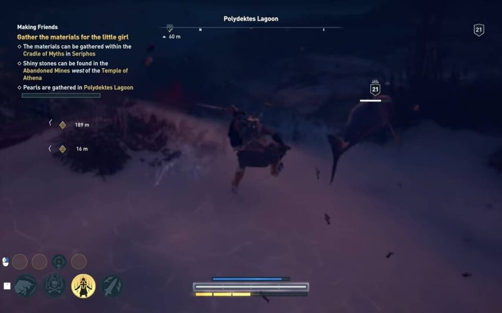 Assassin's Creed Odyssey Making Friends in Sea