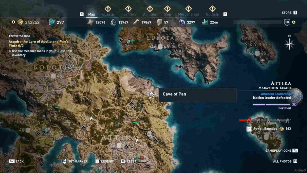 Assassin's Creed Odyssey Throw The Dice Location
