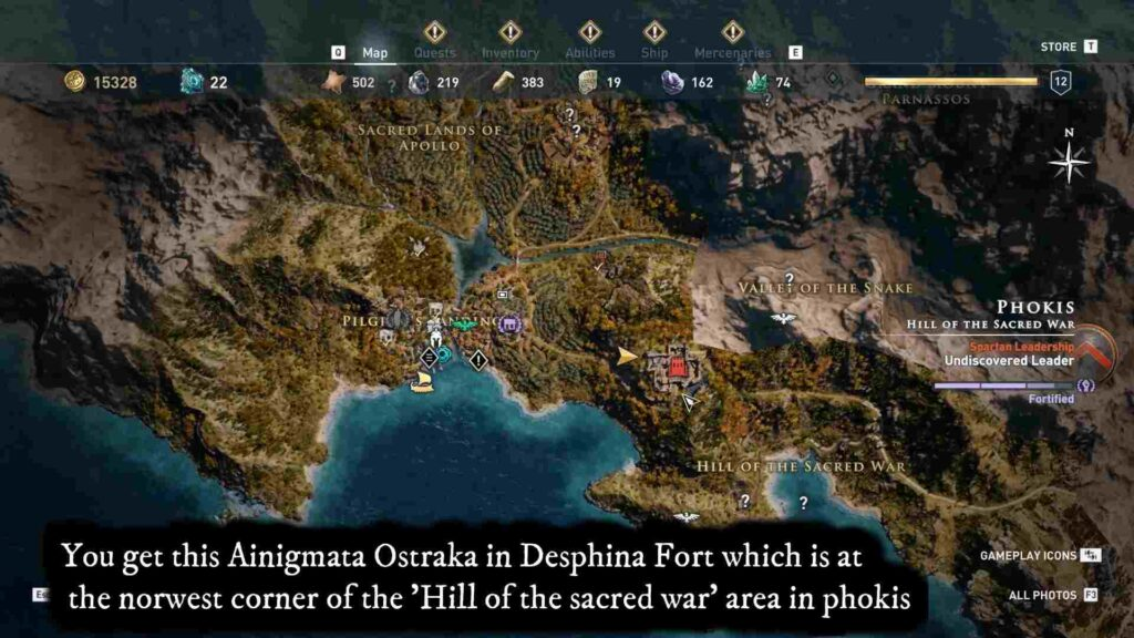Assassin's Creed Odyssey a Fingertip Location