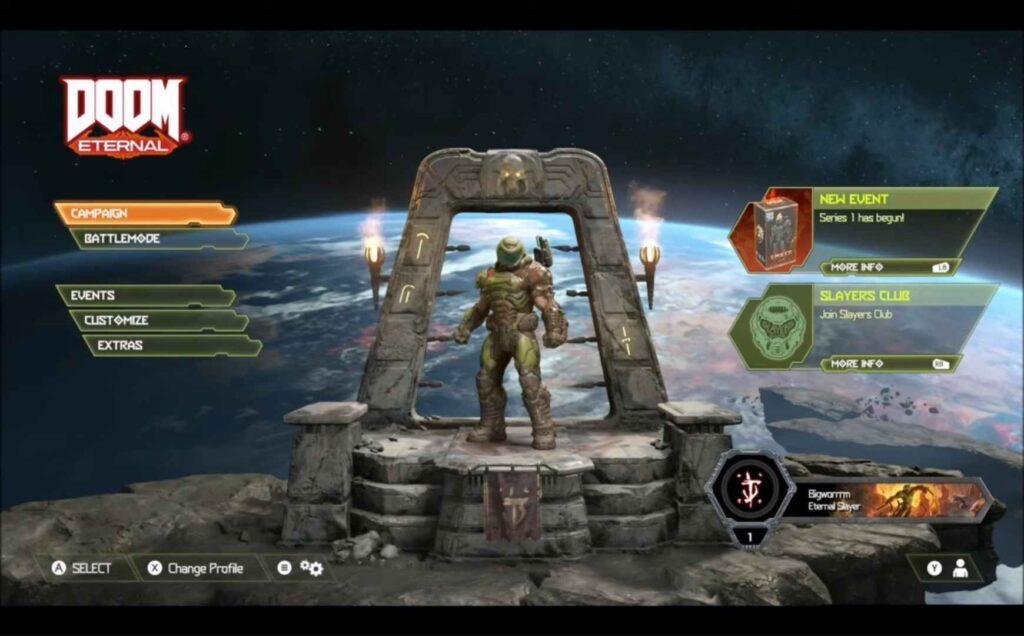 Doom Eternal Level Names View
