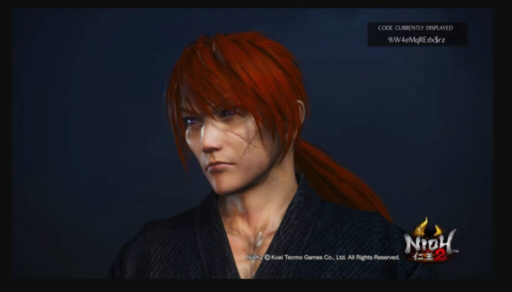 Nioh 2 Character Creation Himura Kenshin Codes