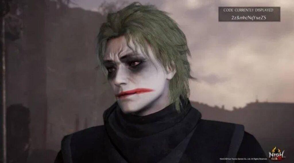 Nioh 2 Character Creation The Joker Codes