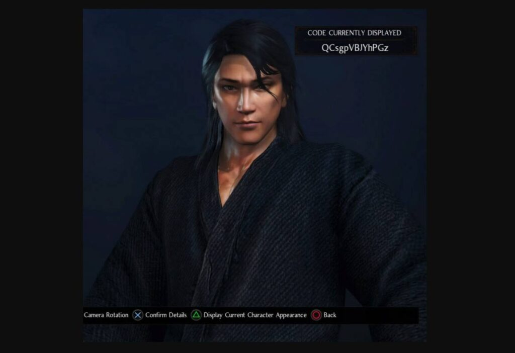 Nioh 2 Character Creation Kojirō Sasaki Codes