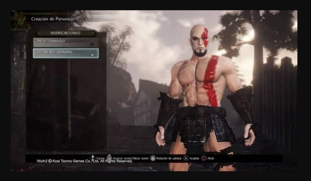 Nioh 2 Character Creation Kratos Codes