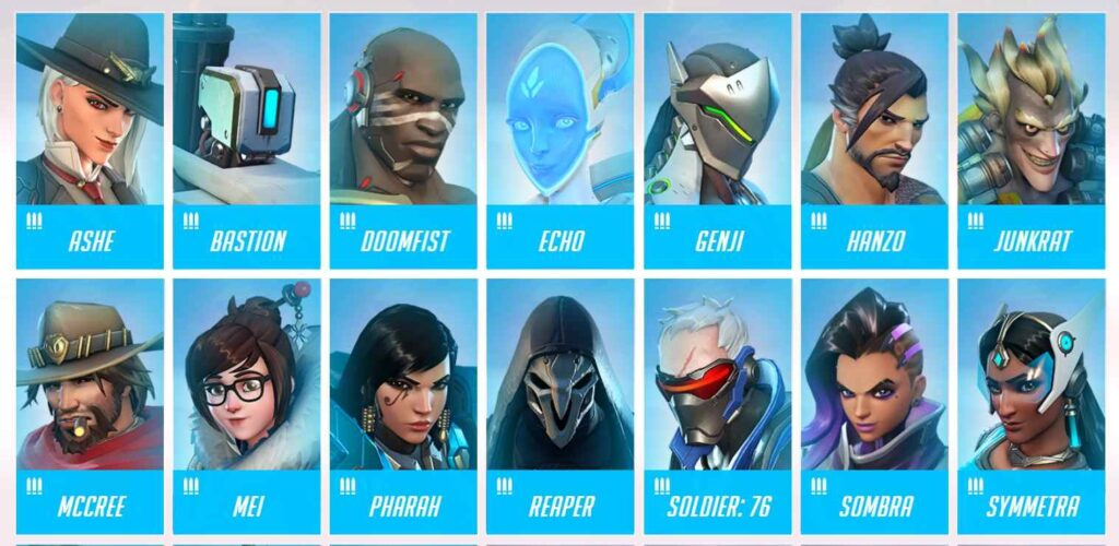 Overwatch Characters: Damage Heroes