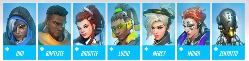 Overwatch Characters: Support Heroes