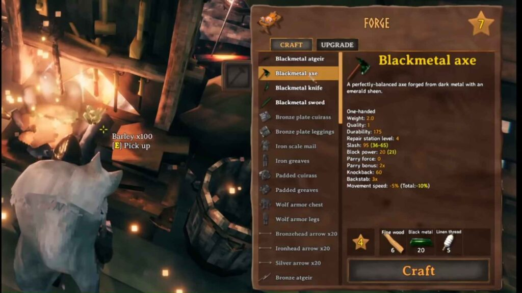 Valheim Black Metal Axe