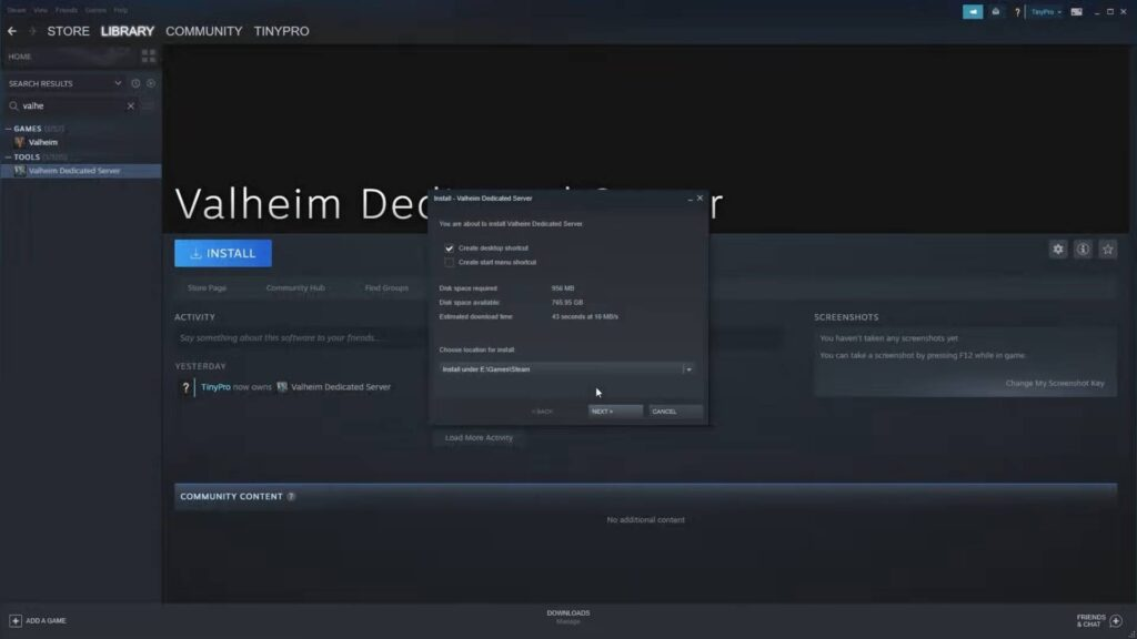 Valheim Dedicated Server Setup
