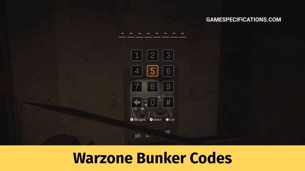 Warzone Bunker Codes