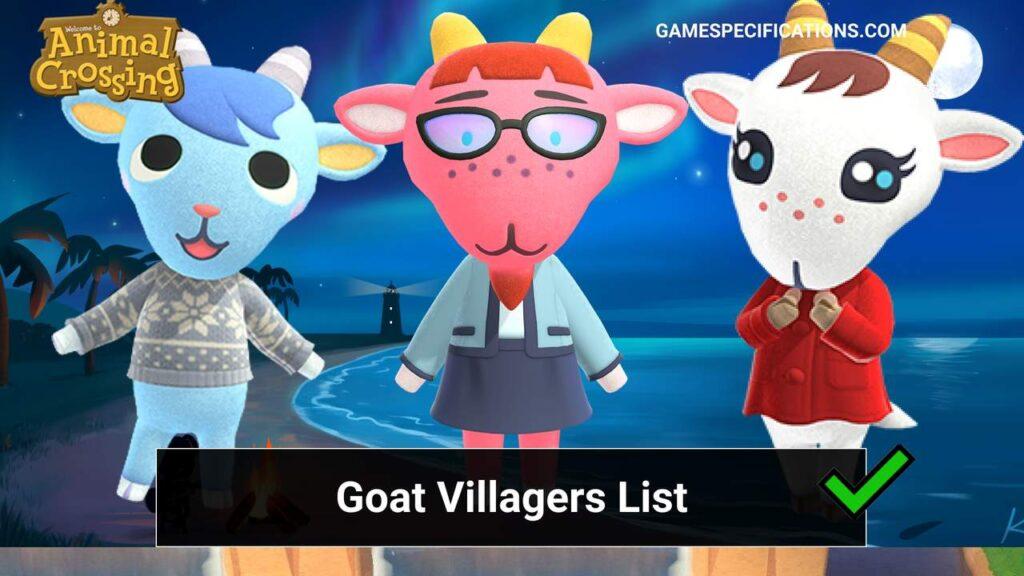 Animal Crossing Goat Villagers List