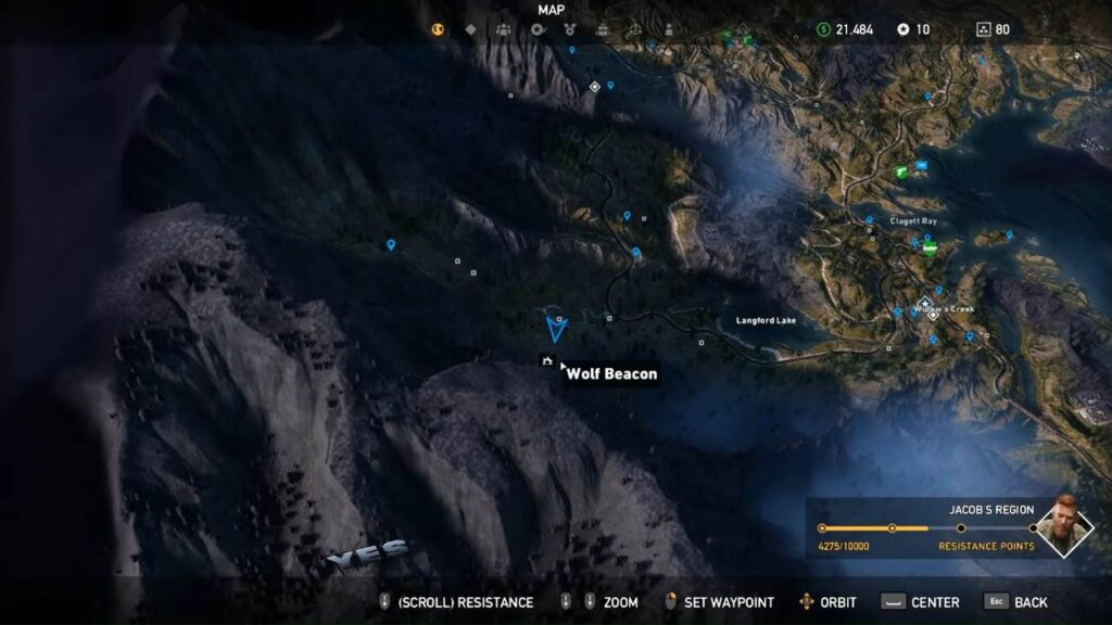 Far Cry 5 Wolf Beacons North Mountains