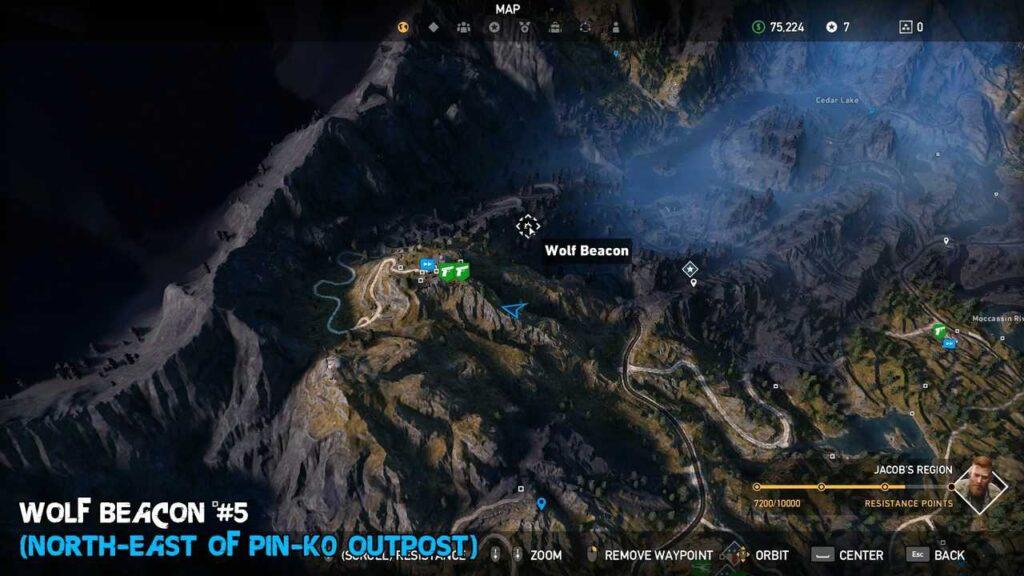 Far Cry 5 Wolf Beacons Mountains