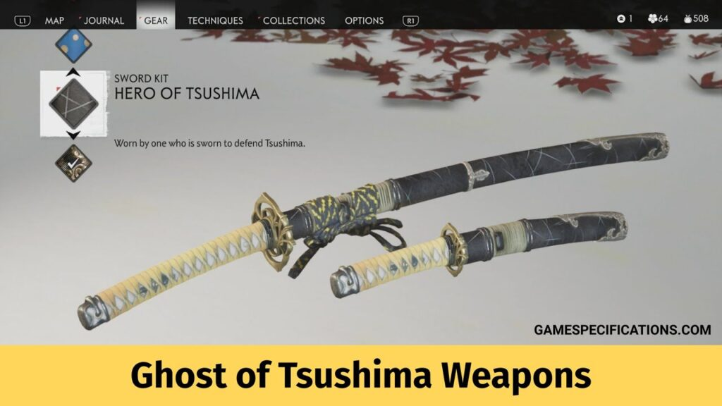 Ghost of Tsushima Weapons
