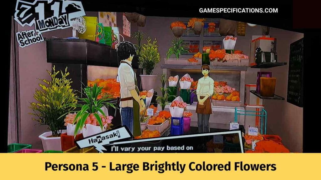Persona 5 - Large Brightly Colored Flowers