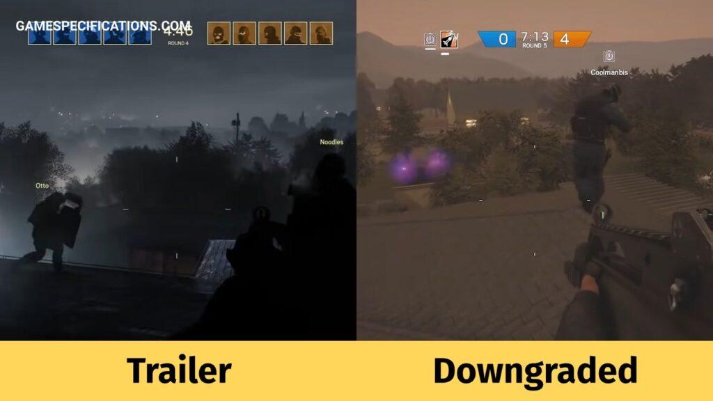 Rainbow Six Siege Downgrade