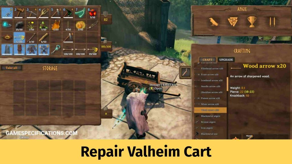 Repair Valheim Cart