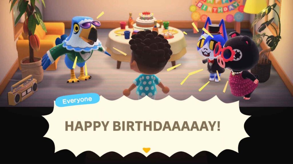 Animal Crossing Birthdays Celebration