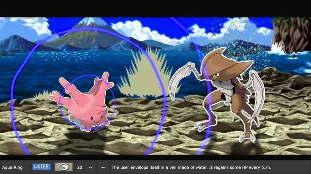 Aqua Ring Effect in Pokemon