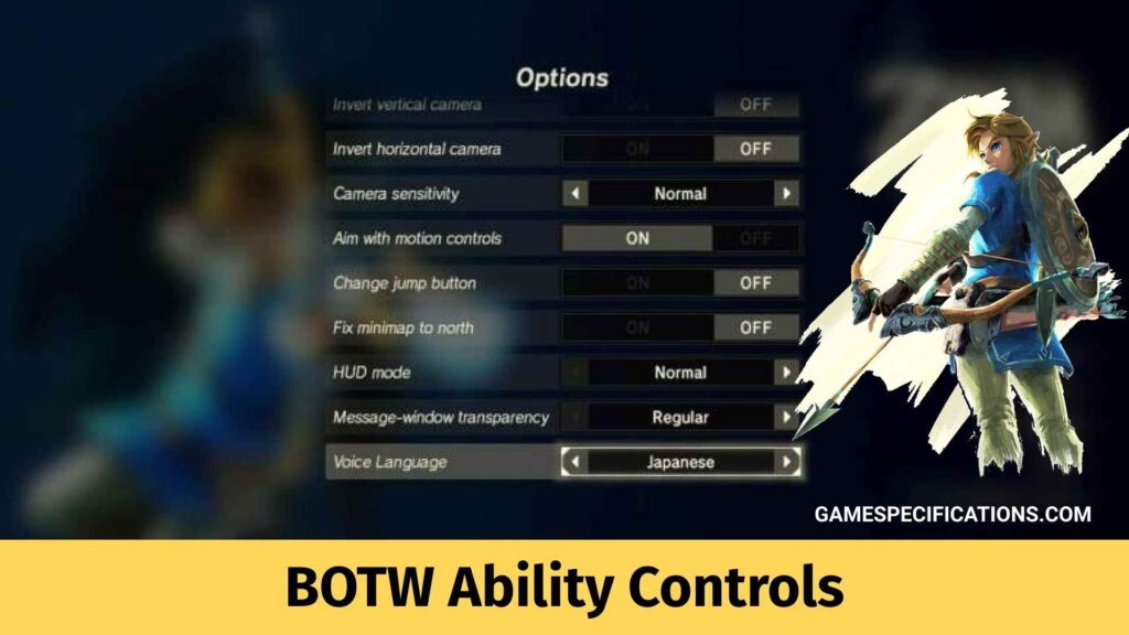BOTW Ability Controls