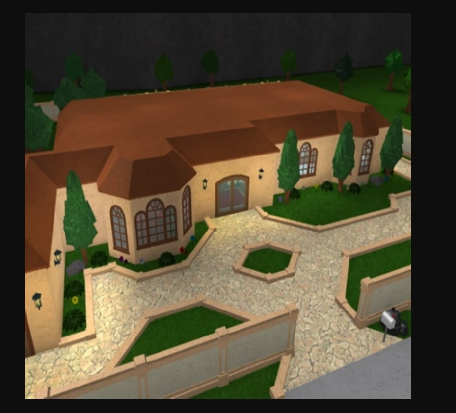 The Bloxington Mansion Bloxburg Layout