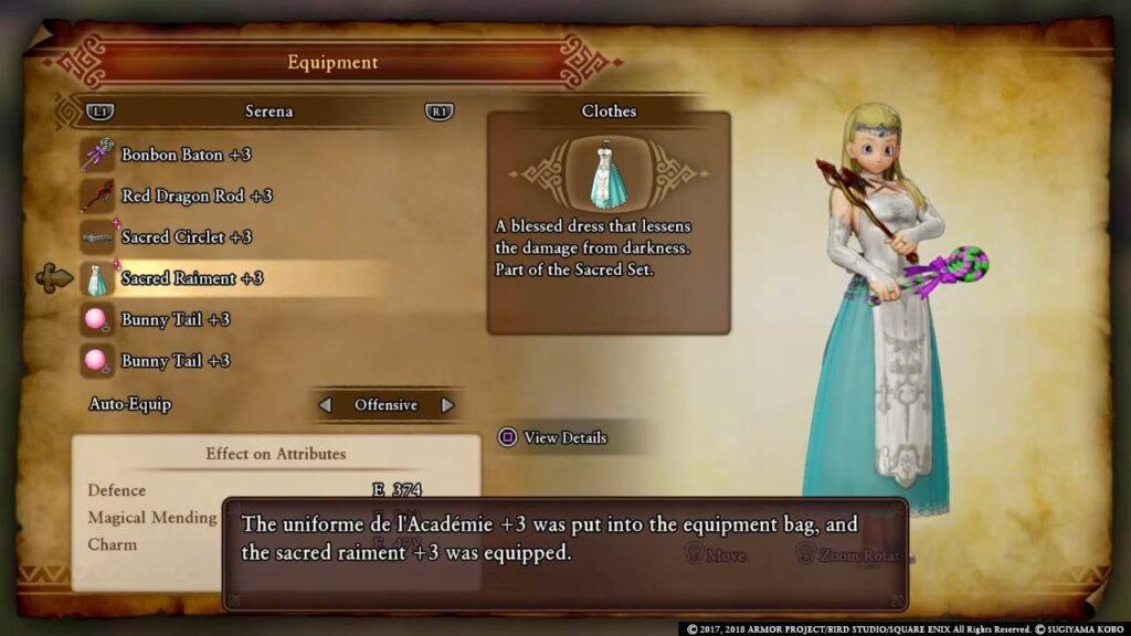 Dragon Quest 11 Sacred Raiment