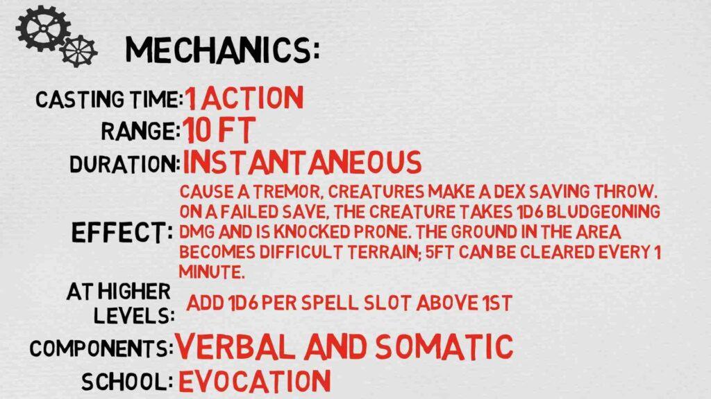 Earth Tremor 5E Overview