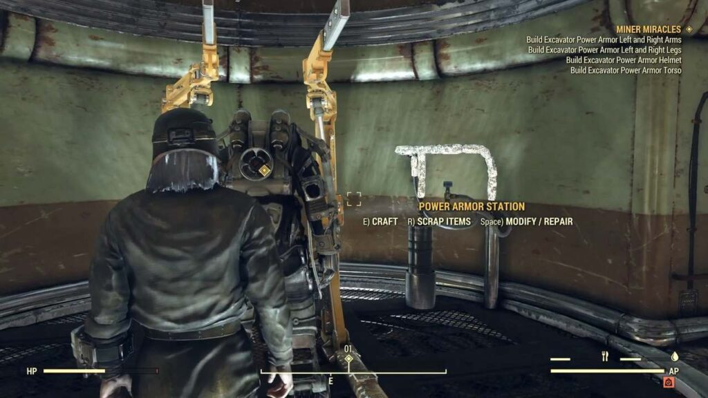 Excavator Power Armor in Miner Miracles Fallout 76