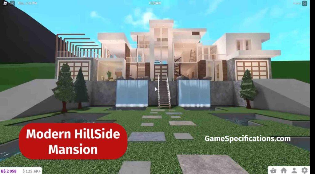 Modern Hillside Mansion Bloxburg