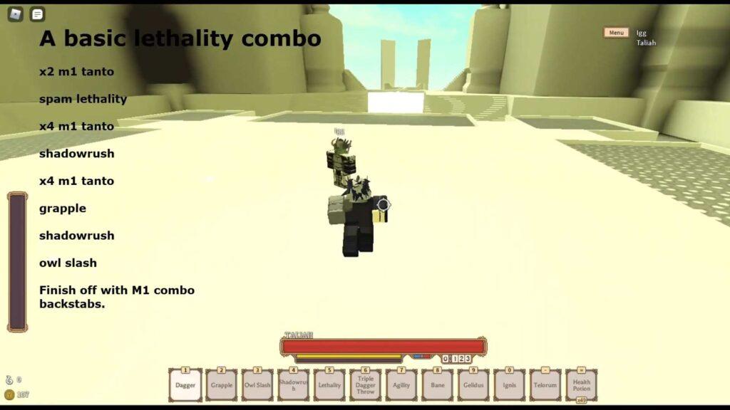 Rogue Lineage Shinobi - Combos