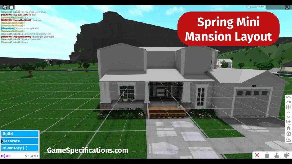 Spring Mini Mansion Layout Bloxburg
