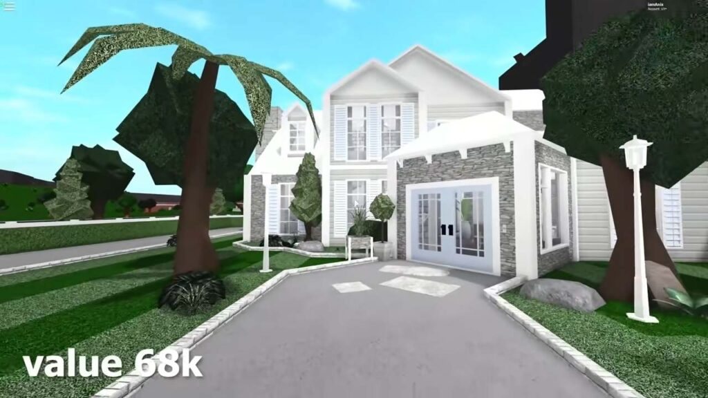 Two-story Modern Bloxburg Family Houses
