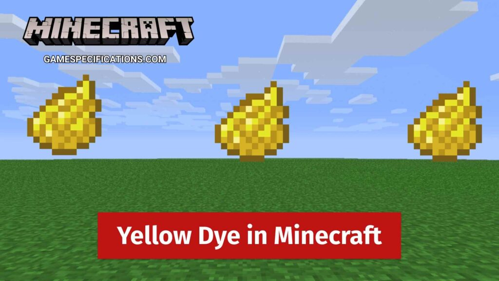 Yellow Dye Minecraft