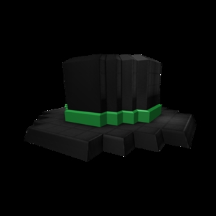 8-Bit Green Banded Roblox Top Hat