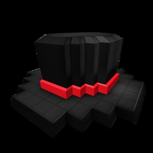 8-Bit Red Banded Top Hat