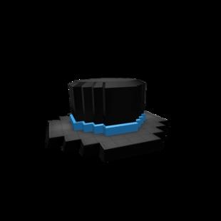 8-Blue Blue Banded Top Hat