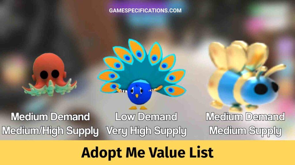 Adopt Me Value List