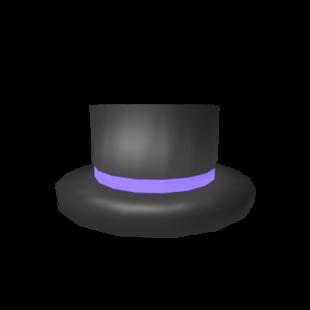 Big: Purple Banded Top Hat