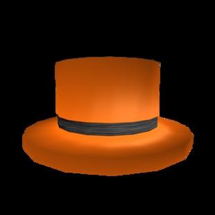 Black Banded Orange Roblox Top Hat