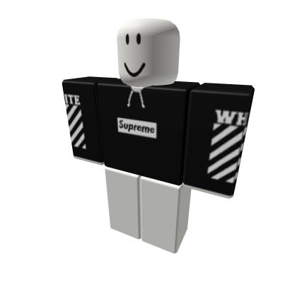 Black Supreme x Off White Hoodie